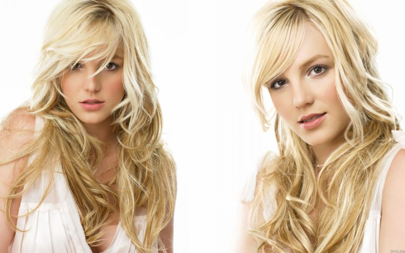 Britney Spears singer musician blondes women females girls sexy babes face eyes cleavage u wallpaper