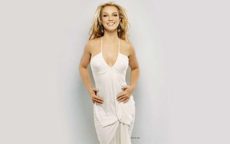 Britney Spears singer musician blondes women females girls sexy babes face eyes cleavage v wallpaper