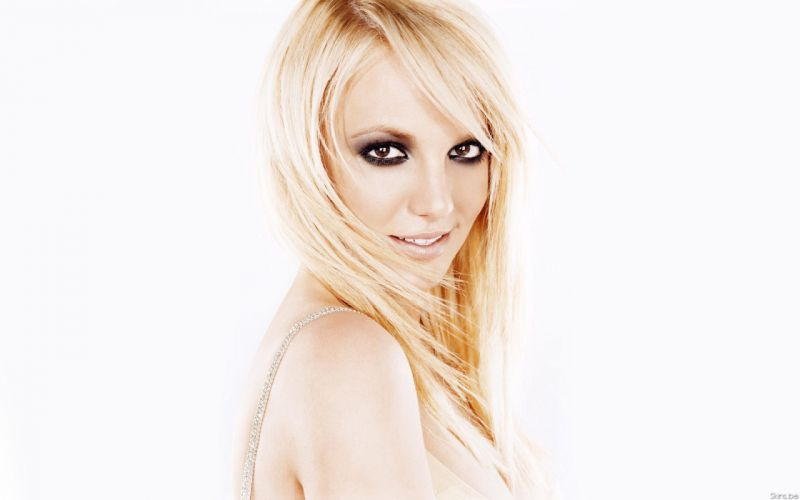 Britney Spears singer musician blondes women females girls sexy babes face eyes cleavage f wallpaper