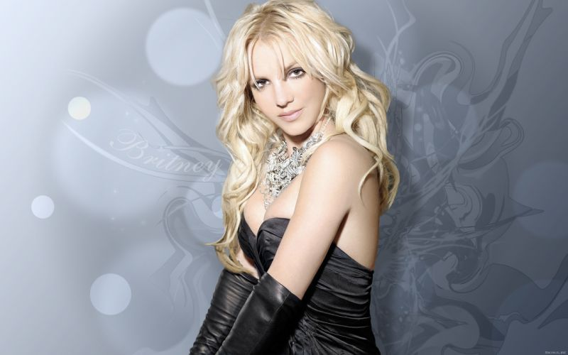Britney Spears singer musician blondes women females girls sexy babes face eyes cleavage wallpaper
