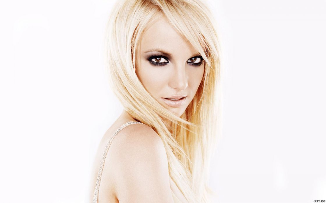 Britney Spears singer musician blondes women females girls sexy babes face eyes make-up wallpaper