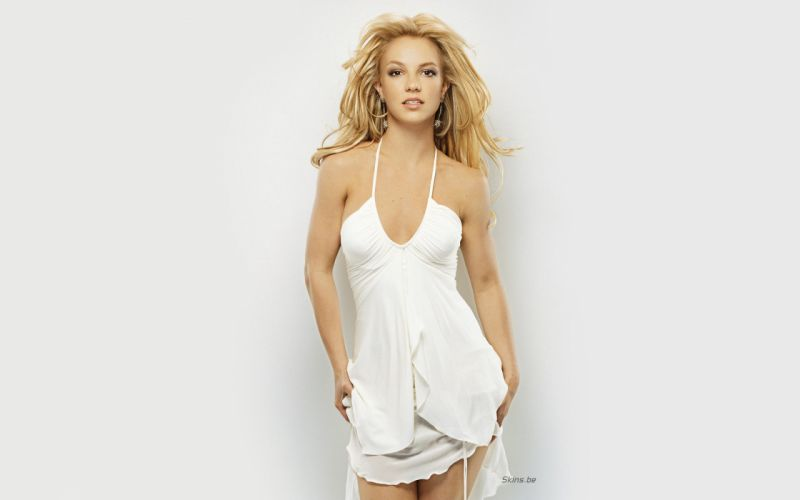 Britney Spears singer musician blondes women females girls sexy babes face eyes legs cleavage w wallpaper