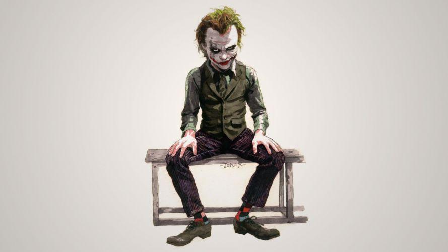 Batman The Joker artwork wallpaper