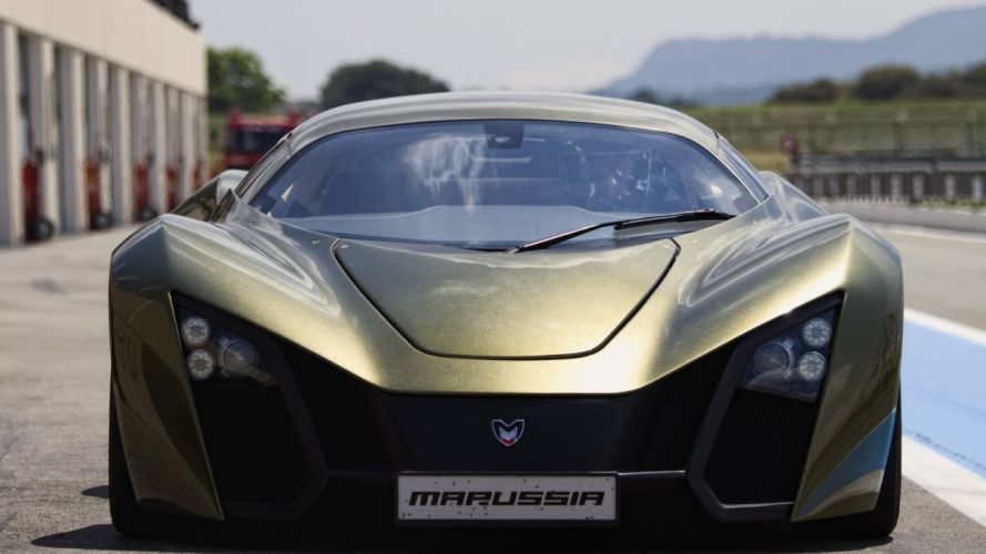cars Marussia front view russian cars Marussia B2 wallpaper