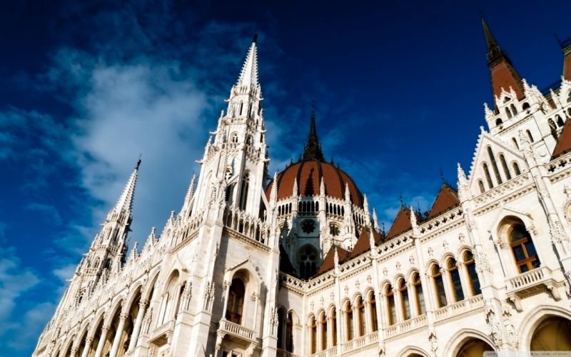 Hungary Budapest parliament houses wallpaper