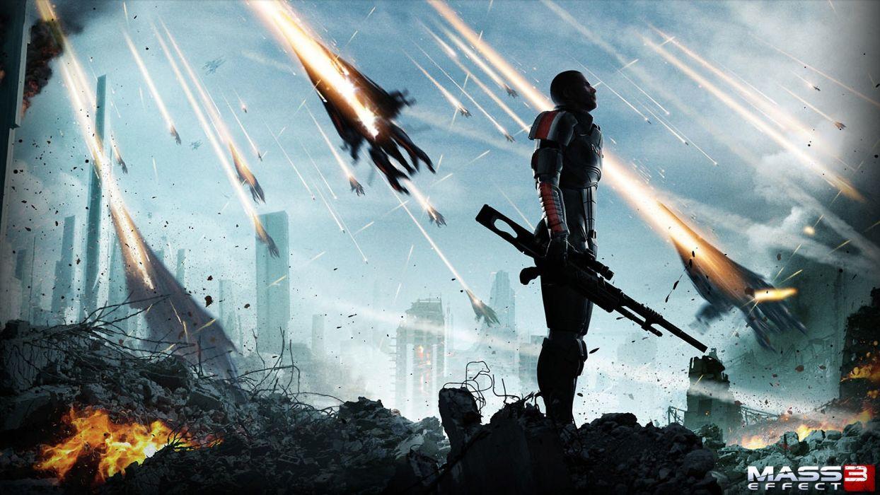 soldiers video games Mass Effect warriors wallpaper