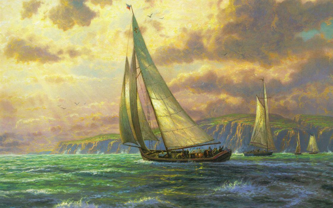 ocean ships artwork sail ship sailing paintwork sailing ships sea wallpaper