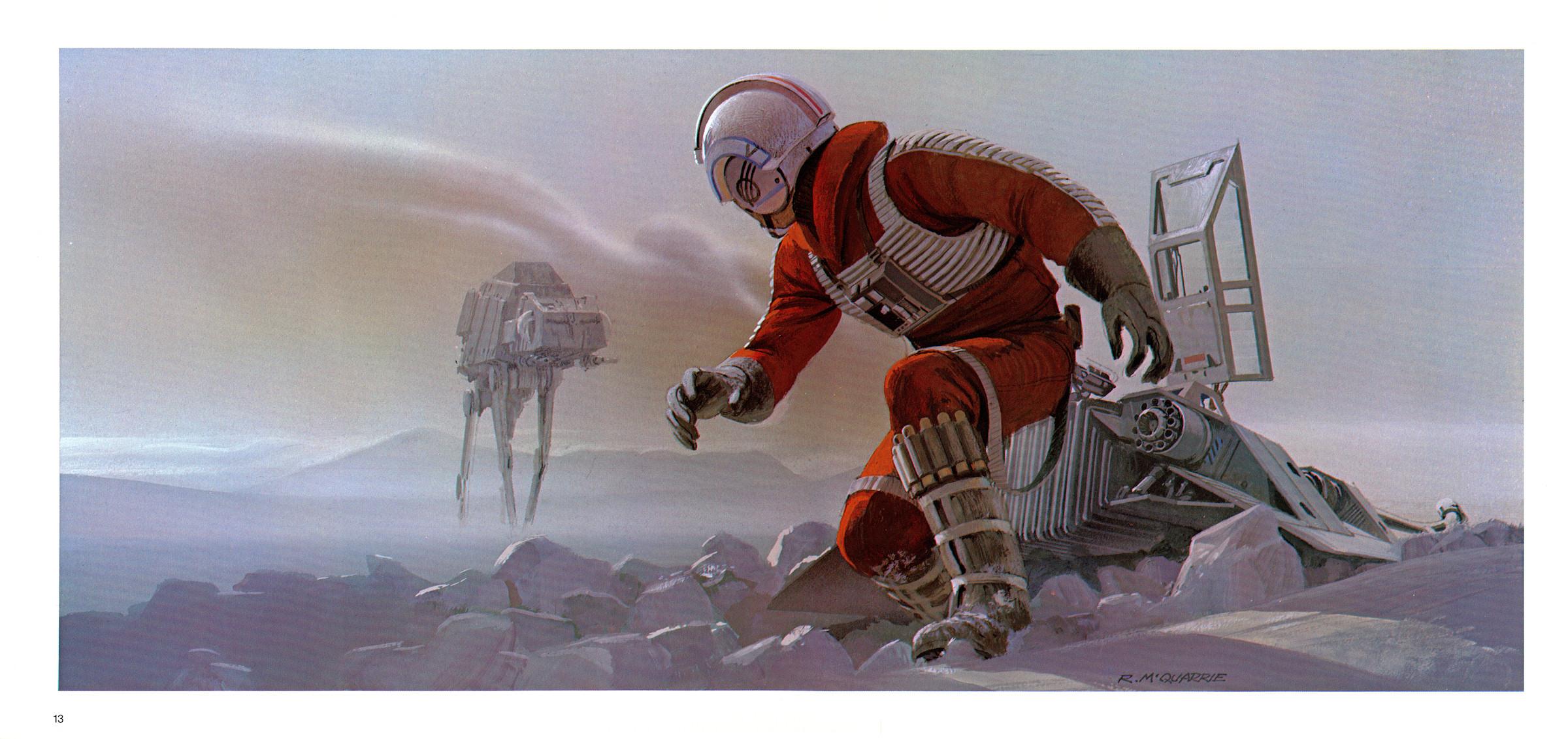Star Wars Luke Skywalker Hoth Snow Speeder Ralph McQuarrie ...