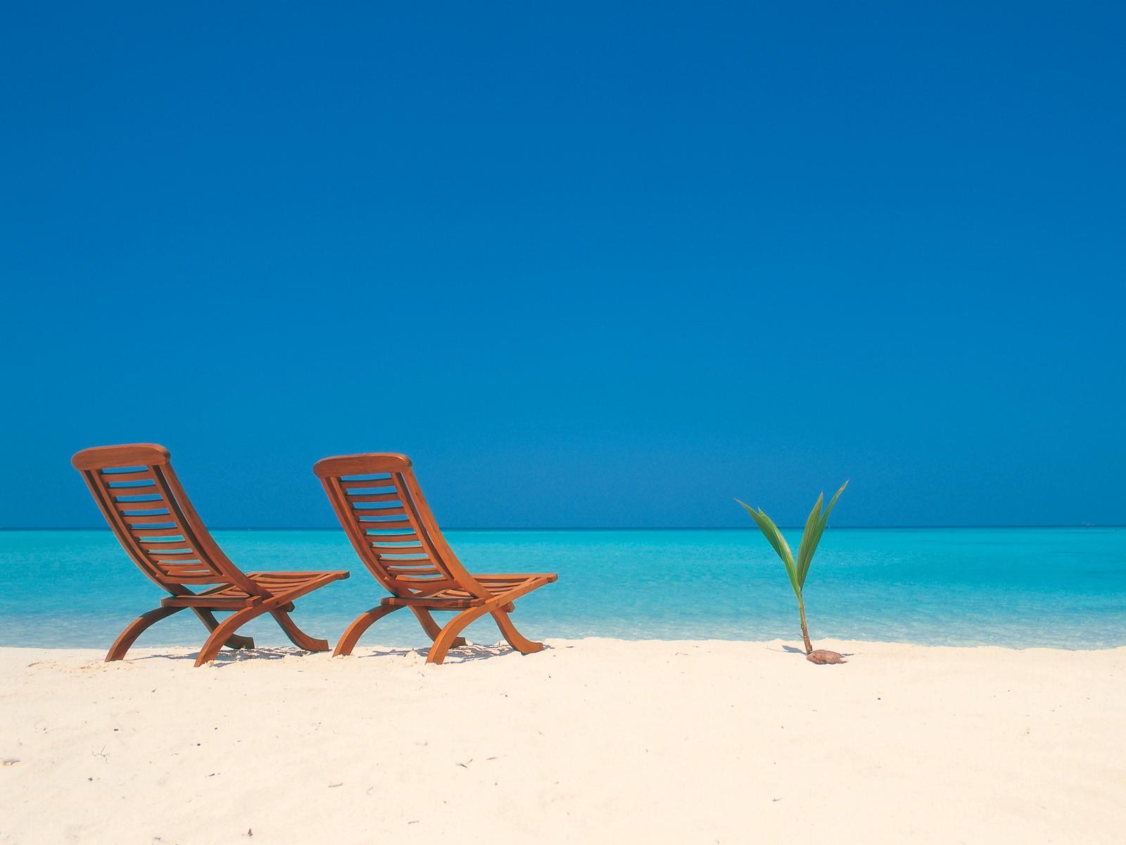 Nature Beach Chairs Wallpaper
