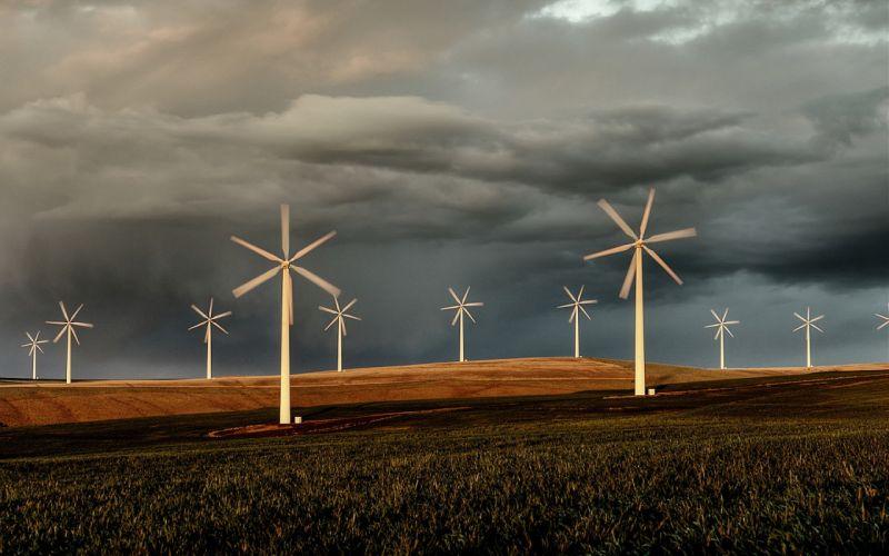landscapes windmills wallpaper