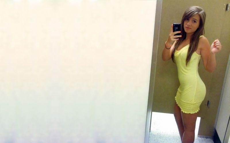 legs women dress teen amateurs minidress selfshot Amanda Nance wallpaper