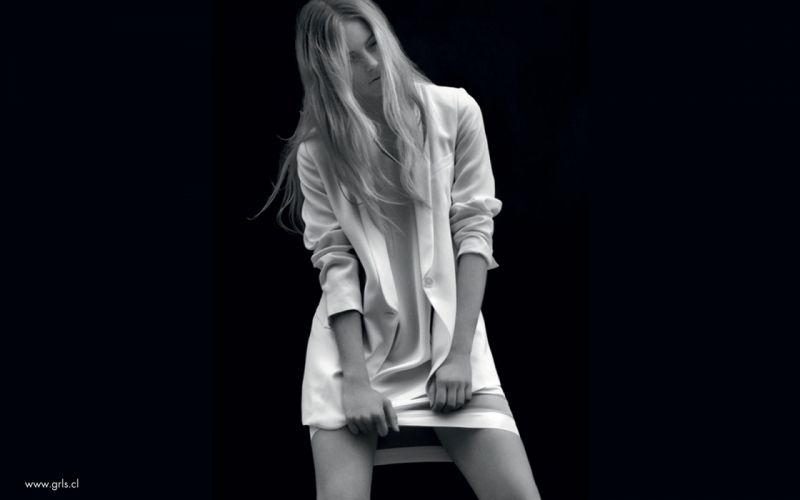 blondes women skirts long hair grayscale monochrome black background wallpaper