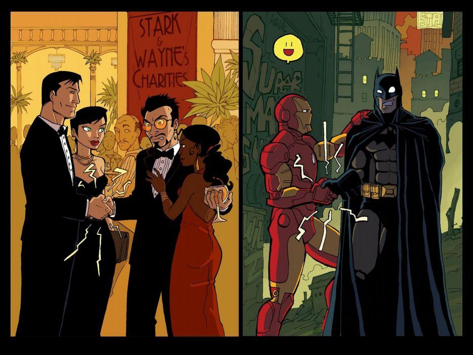 Batman Iron Man DC Comics Tony Stark revenge Batman The Dark Knight Bruce Wayne wallpaper