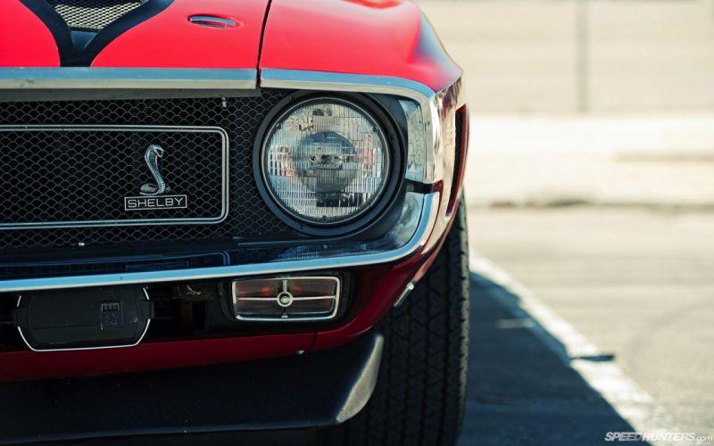 cars Shelby Cobra SpeedHunters_com headlights wallpaper