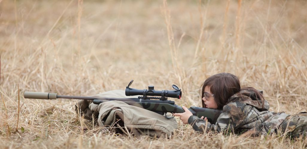 women guns hunter weapons sniper rifles children wallpaper