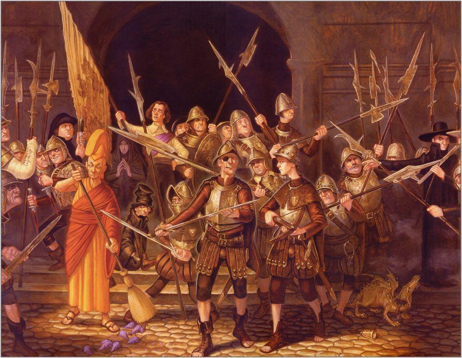 fantasy art Paul Kidby wallpaper