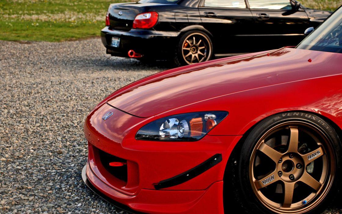 Honda Subaru series Honda S2000 Subaru Impreza wallpaper