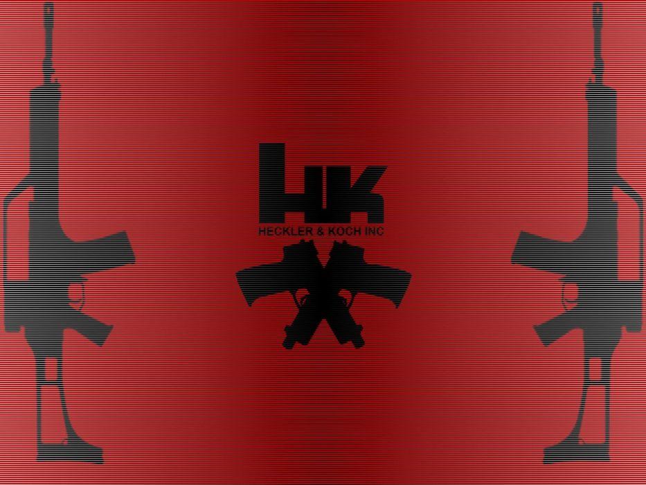 guns Heckler and Koch logos HK MK23 HK G36 wallpaper
