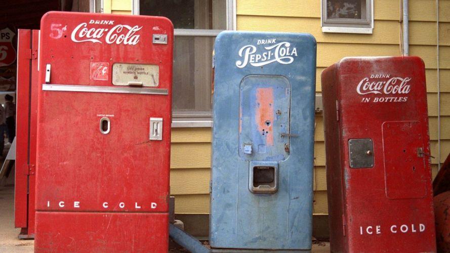 old coke machines Pepsi Missouri wallpaper
