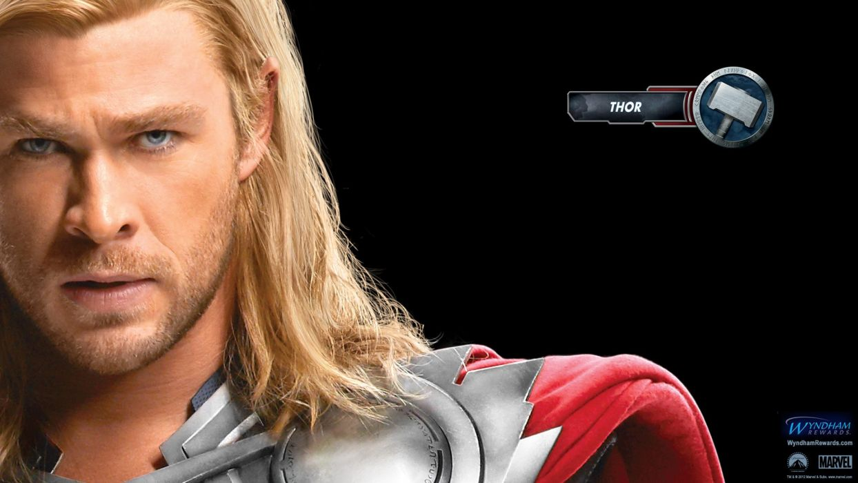 Thor movie posters Chris Hemsworth faces The Avengers (movie) wallpaper