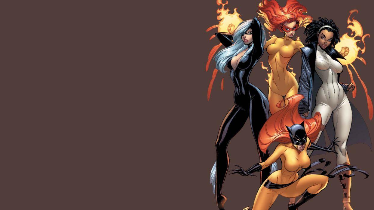 Marvel Comics J_ Scott Campbell comics girls wallpaper