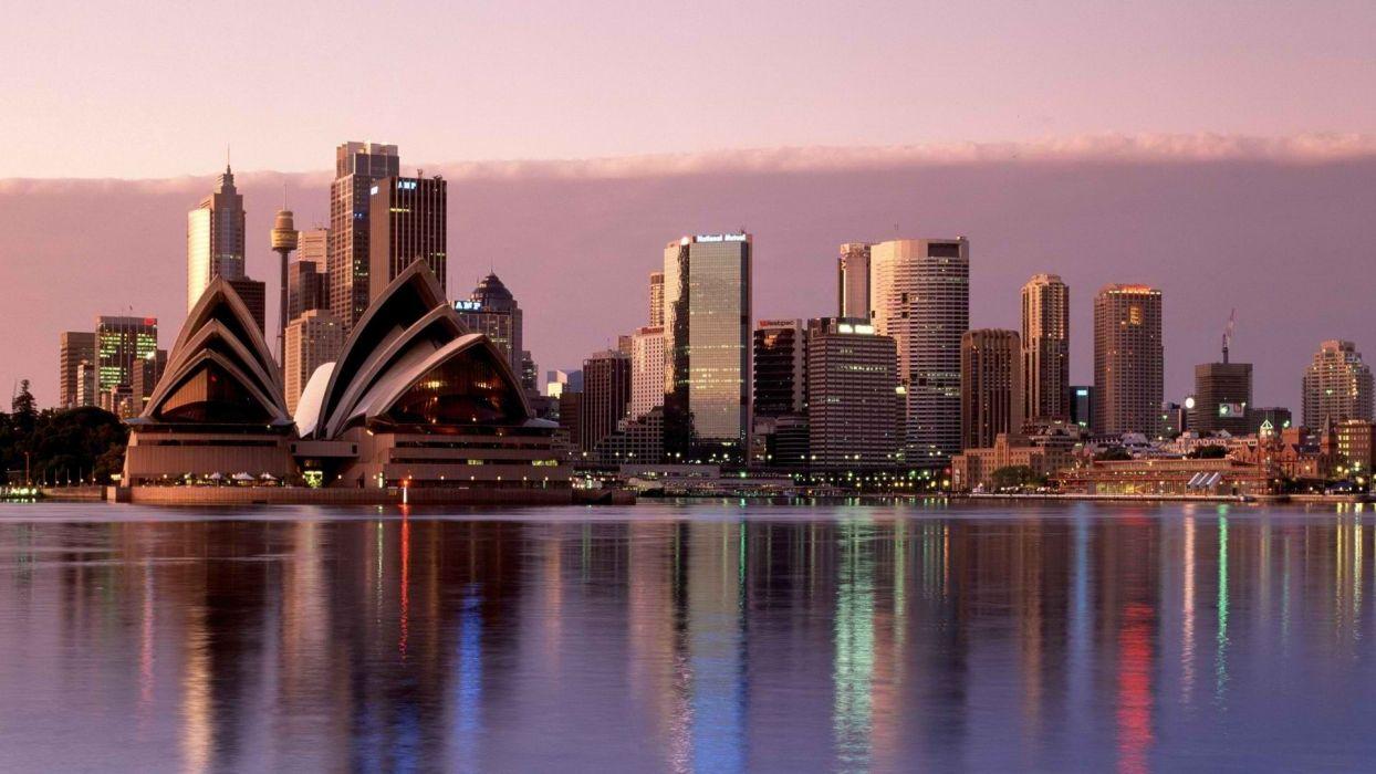 Sydney Australia reflections wallpaper