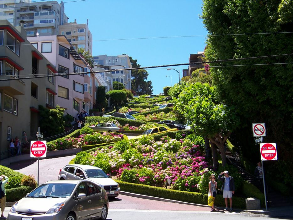 cityscapes streets San Francisco wallpaper