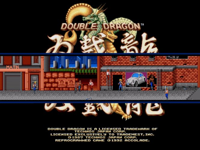 video games retro games Double Dragon wallpaper