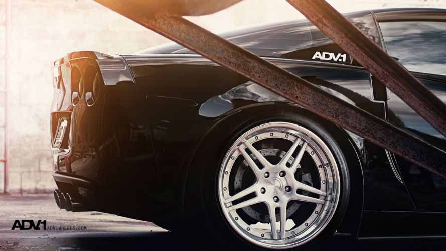 cars Chevrolet vehicles supercars Chevrolet Corvette wheels rims black cars ADV 1 exotic cars adv1 wheels wallpaper