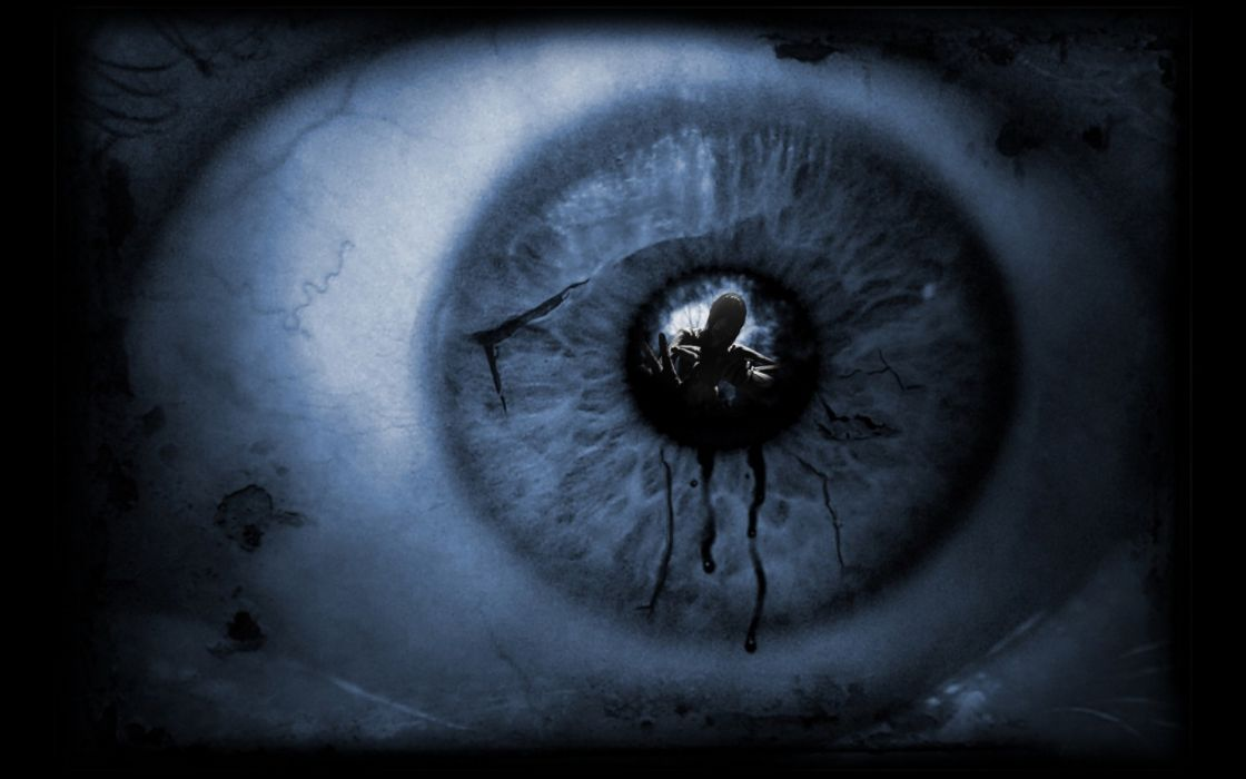horror eyes dark scary darkness eye reflections Photoshop scared wallpaper