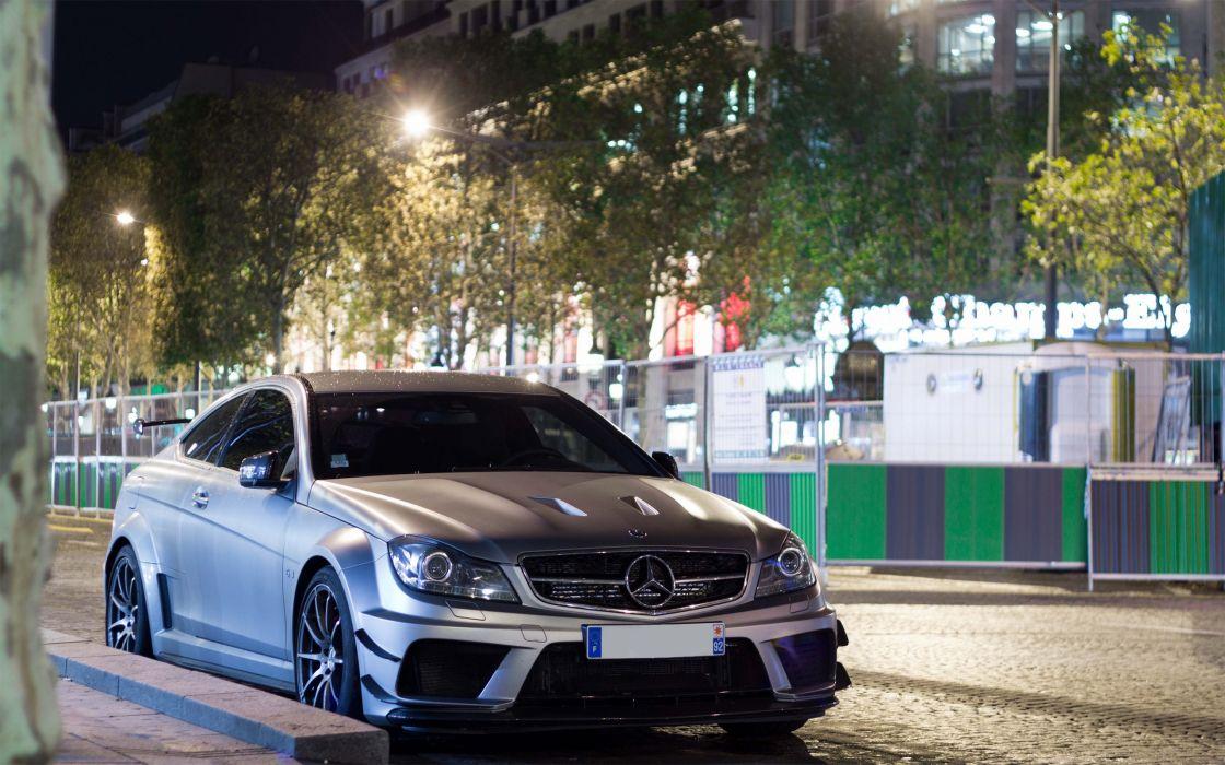 black cars vehicles series Mercedes-Benz C63 AMG S65 AMG wallpaper