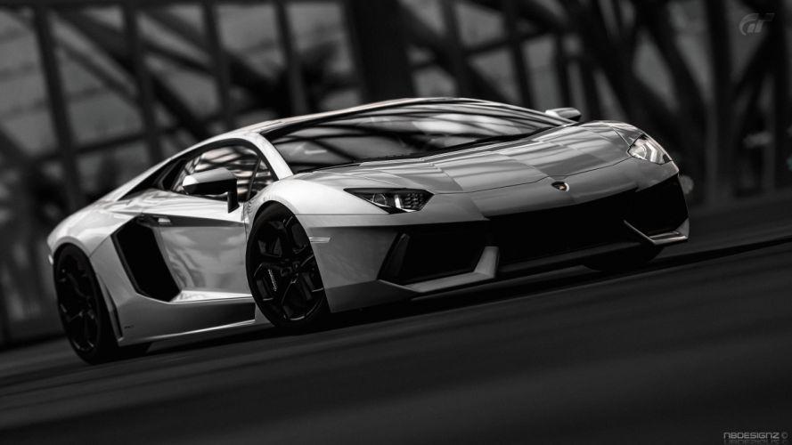 Black And White Video Games Cars Lamborghini Gran Turismo