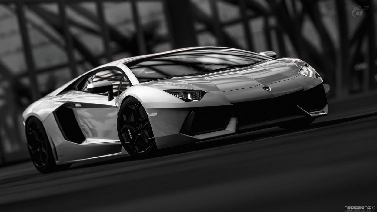 Black And White Video Games Cars Lamborghini Gran Turismo