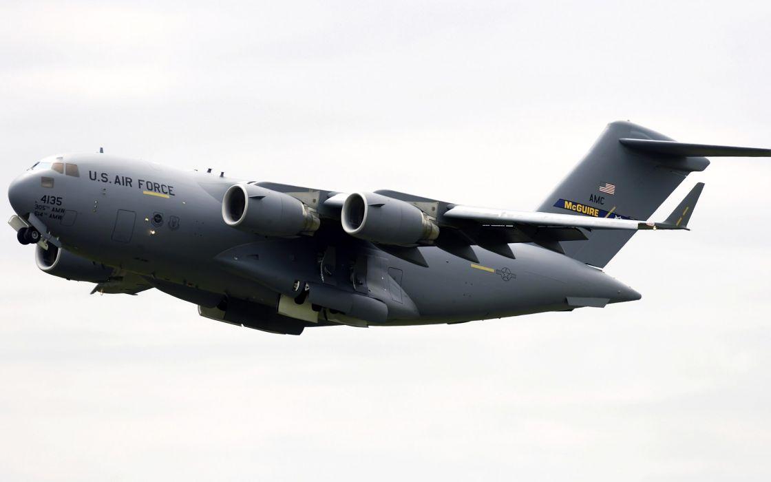 aircraft military planes cargo aircrafts C-17 Globemaster wallpaper