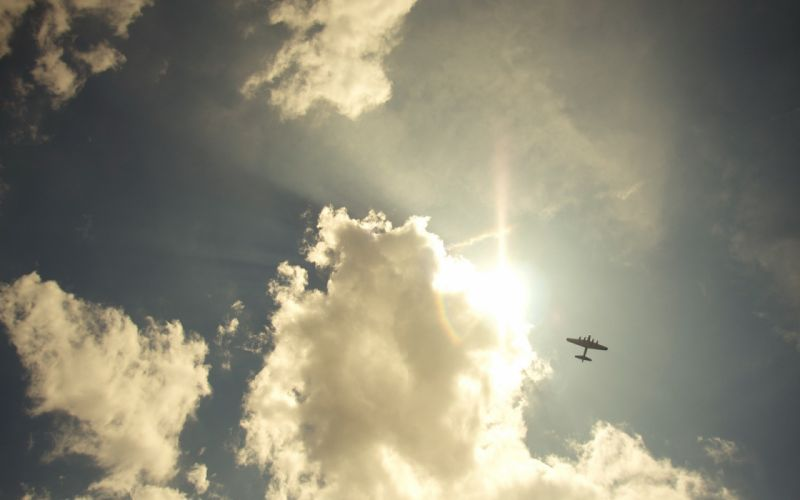 clouds nature aircraft skyscapes wallpaper