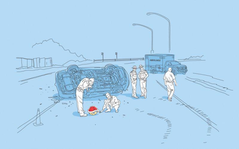 cars Mario police Mario Kart ambulance wallpaper