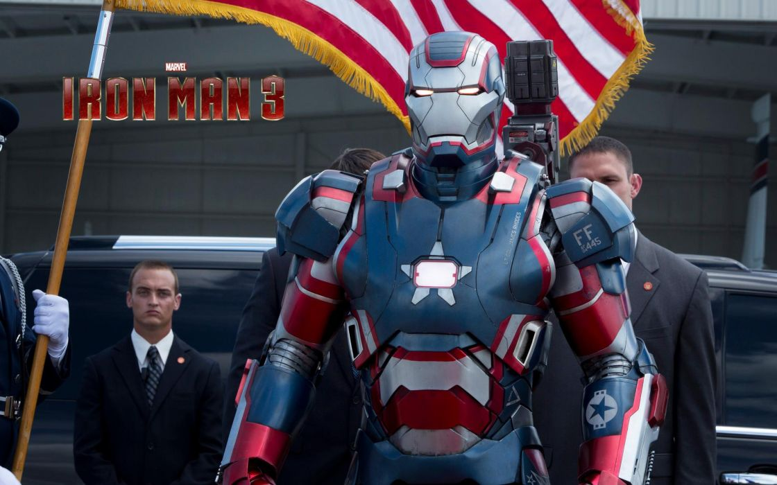 Movies Superheroes Armor Marvel Comics Iron Patriot Man 3 Wallpaper