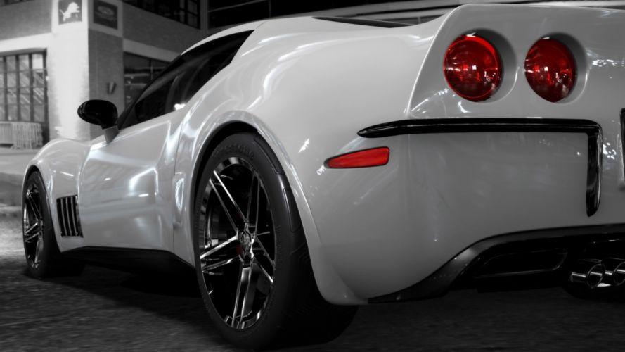cars Corvette white cars tires exotic cars super cars wallpaper