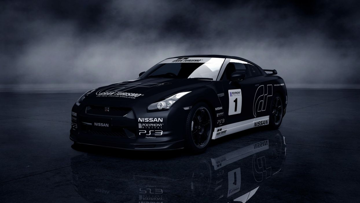 video games cars Gran Turismo 5 PS3 Nissan GT-R wallpaper