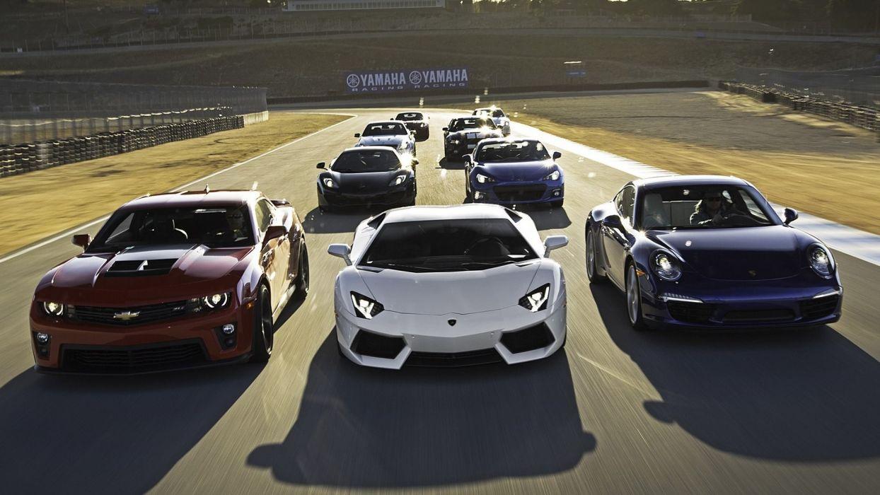 Cars track jaguar xkr chevrolet camaro zl1 mclaren mp4 12c subaru brz lamborghini aventador lp700