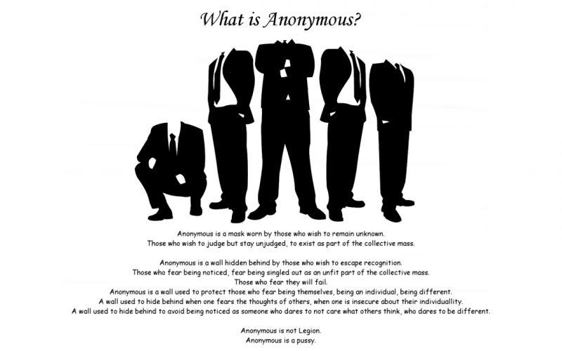 Anonymous Internet bad grammar wallpaper