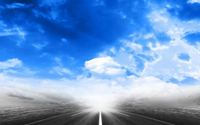 roads skies wallpaper