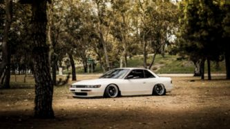 Forest Cars Tuning White Tuned Nissan Silvia S13 Stance Jdm Wallpaper