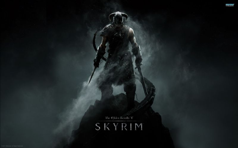 video games dark The Elder Scrolls The Elder Scrolls V: Skyrim Dragonborn wallpaper
