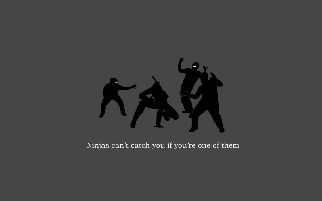 ninjas cant catch you if wallpaper