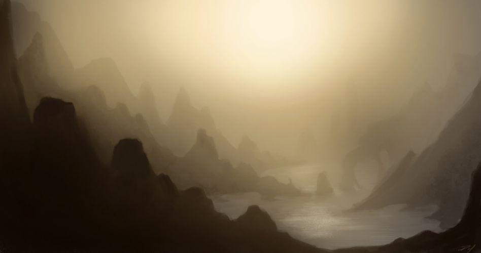 paintings landscapes wallpaper