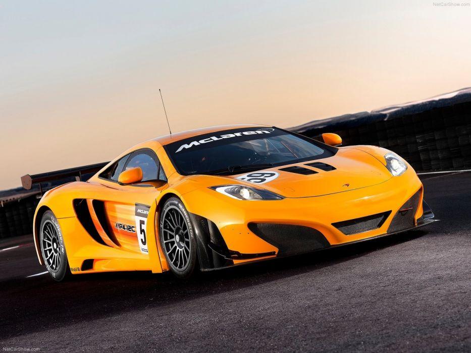 cars orange McLaren MP4-12C wallpaper