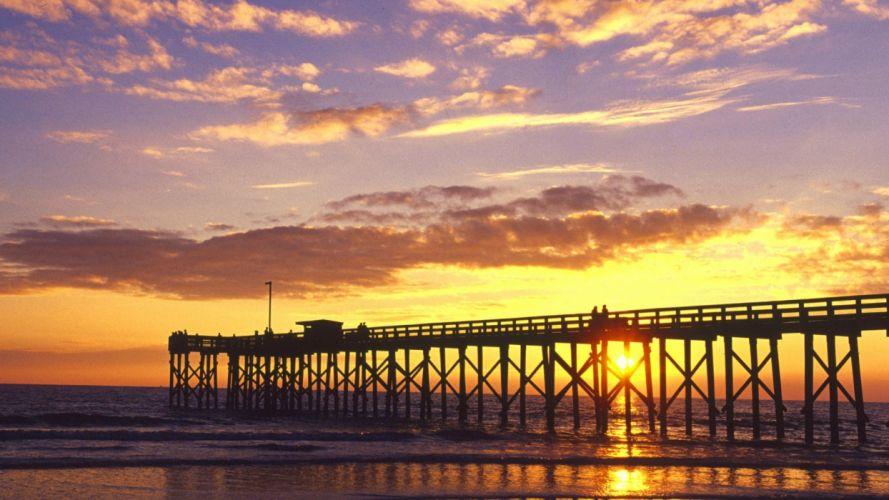 sunset nature beach Mexico Florida Gulf wallpaper