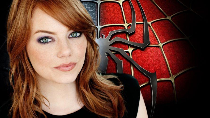 women Spider-man Emma Stone wallpaper