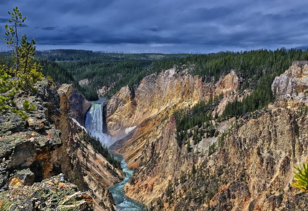 mountains canyon lakes rivers skies wallpaper